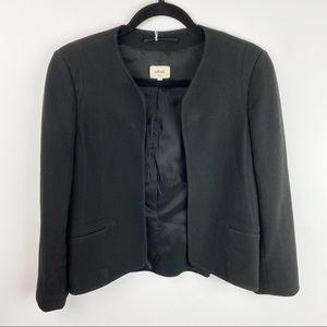 Wilfred Aritzia open style black blazer size 4